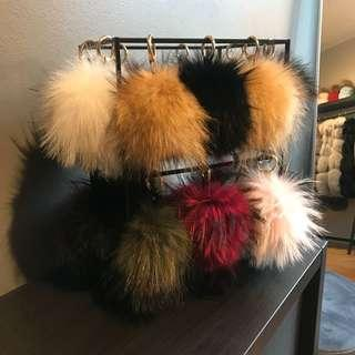 Fur Pompom Keyring