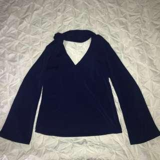 NAVY BLUE COLLARED SHIRT