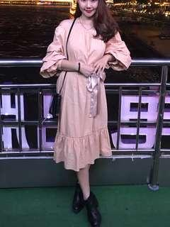 Authentic Zara Ruffle sleeve Off Shoulder Dress