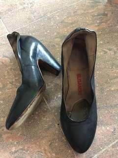 Italy Handmade Elisanero real leather high heels
