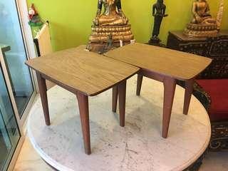 Antique Teak Side Tables