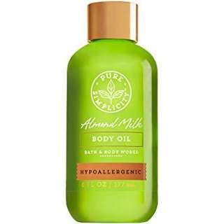 Bath and Body Works Hypoallergenic Almond Milk Body oil