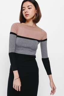 Tadia Colourblock Knit Midi Dress