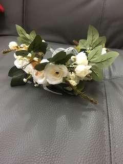 White Flower Crown for Prenup