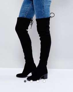 Over the knee suede boots from the UK
