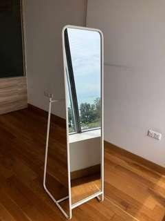 IKEA Knapper standing mirror in white 48x160