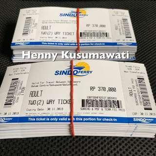 SINDO FERRY $37 All passport open tickets phisical tickets