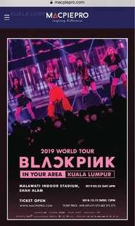 BLACKPINK WORLD TOUR TICKETS FOR TWO (FIRST DAY)