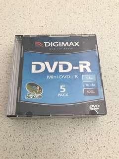 Mini DVD R x 5 - New