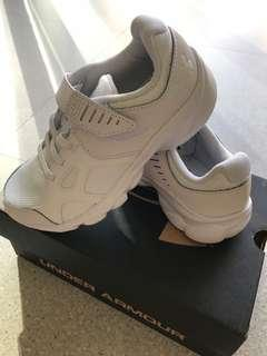 Under Armour White School Shoes size 12K