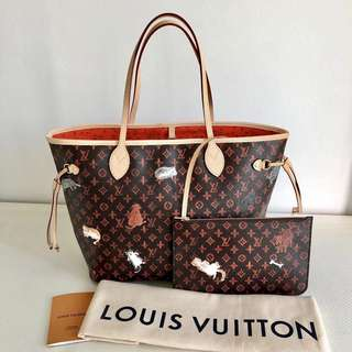 4e87aa48a509 Louis Vuitton Limited Edition Neverfull MM Tote Bag