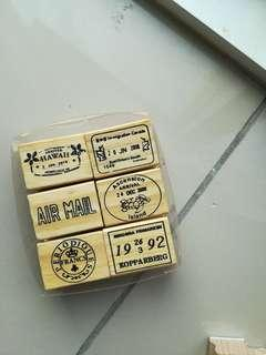 Travel Stamps Set (6 pieces)