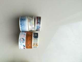 Cute Washi Tapes Set B (6 pieces)