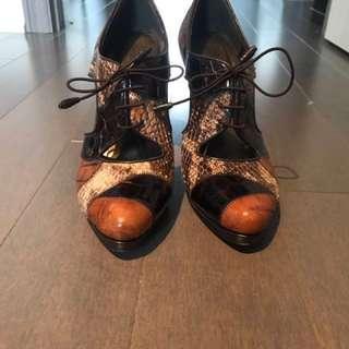 Stuart Weitzman oxford cutout heels