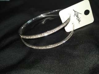 NEW Diamante diamond bling hoops