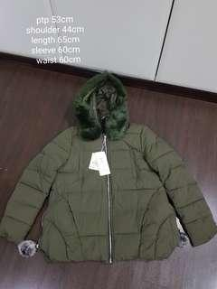 Brand new ladies parka winter jacket in olive green