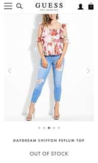 Bnwt Guess floral top