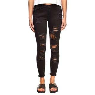 Cotton on black ripped jeans