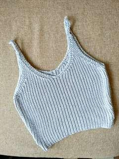 Knit shimmery Spag top