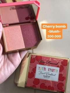 Too faced cherry bomb blush duo