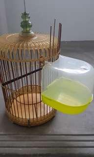 Hook on bath cage for most birdcages