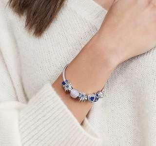 Authentic Pandora Christmas Bangle With Charms