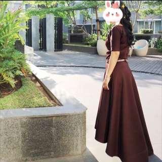 Long Dress Scuba Prewed