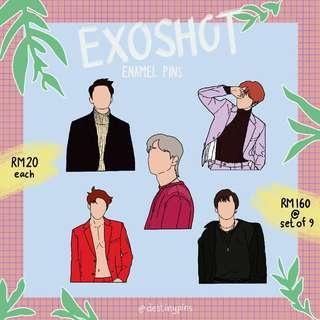 EXO LoveShot Enamel Pins [Preorder]