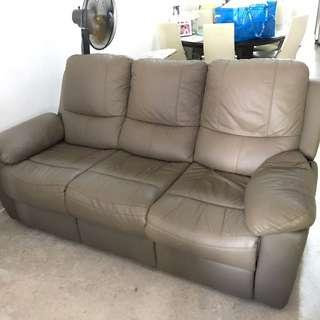 Pre owned leather sofa