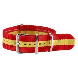 18/22 mm red yellow stripe nato watch strap