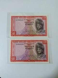 Malaysia 2nd Series RM10 Running Number