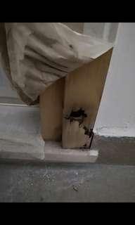 REPAIR - damaged door frame