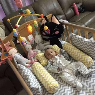 Baby Cot converted single