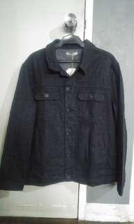 Black stretch denim jacket