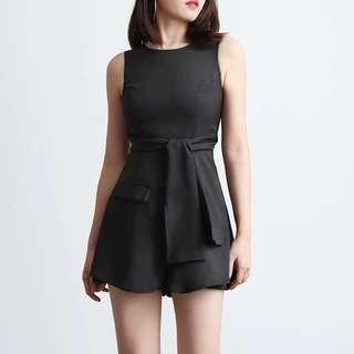 PREORDER- TANSSHOP Casual Sleeveless Round Neck Romper