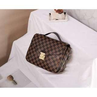 L.o.u.i.s. V.u.i.t.t.o.n. Sling Bag Handbag Damier L.V Handbag Sling Bag Cross body Bag Women's Bag BROWN