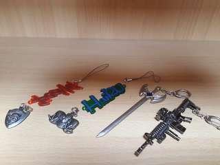 Medal keychain set