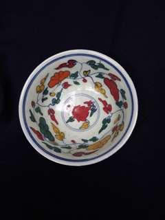 Ming era five color 五彩 bowl 18cm dismeter with flowers