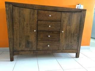 Wooden side board
