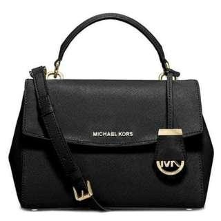 MK Bag Michael Kors Signature Logo Monogram Hand Bag Sling Bag Detachable Strap Women's Bag BLACK