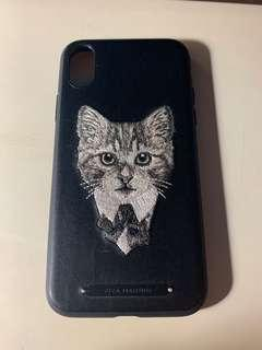 iPhone X Case (Viva Madrid) 針織貓貓殼