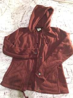 🚚 [Timberland專櫃品牌]豬肝紅 帽T 拉鍊外套
