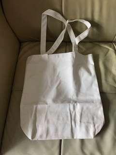 厚身布料環保袋 空白無圖案可DIY(送徽章)