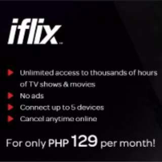 iflix one month subscription