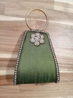 Designer Ladies clutch (Green)