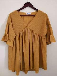 Dainty mustard blouse L-XL