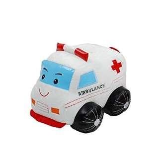 Linzy Plush Ambulance Coin Bank with Siren Sound #NEW99