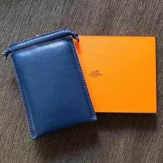 Hermes Blue Pouch