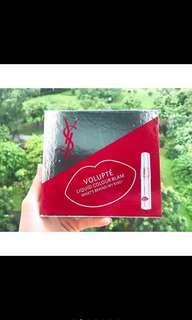YSL beauty volupte liquid color balm IDR 550k 1 box isi 4pcs shade : 2,7,8,11