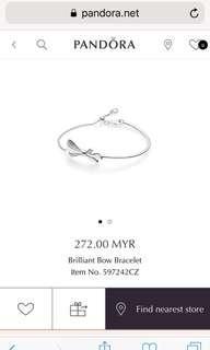 PANDORA BRILLIANT BOW BRACELET RM150